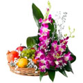 fruit and orchids
