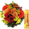 Mix flower with toblerone